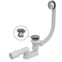 Сифон для ванны AlcaPlast A504CKM Click-Clack с системой очистки снаружи