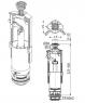 Сливной механизм Alca Plast A05 со стоп-кнопкой