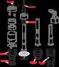 Сливной механизм Alca Plast A06E Ecology для скрытых систем инсталляции