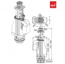 Сливной механизм Alca Plast A08 с двойной кнопкой