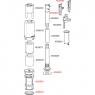 Сливной механизм Alca Plast A09B для Slimmodul