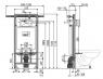 Скрытая система инсталляции Alca Plast A102/1200 Jádromodul