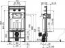 Монтажная рама Alca Plast A108F/1100 для видуара и смесителя