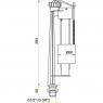 """Впускной механизм Alca Plast A14 1/2"""" с нижней подводкой"""