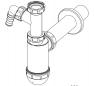 Сифон Alca Plast A430P для умывальника с подводкой