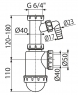 Сифон Alca Plast A443P-DN50/40 для мойки
