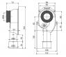 Сифон Alca Plast A45C нижний для писсуара