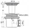 Сифон Alca Plast A49K для душевого поддона металл LUX