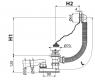 Сифон Alca Plast A501 для ванны хромированный