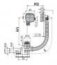 Сифон для ванны Alca Plast A508KM-80 click/clack