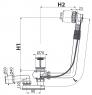 Сифон для ванны Alca Plast A550KM-80