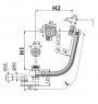 Сифон для ванны Alca Plast A564CRM1