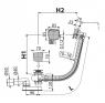 Сифон для ванны Alca Plast A564CRM2