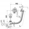 Сифон для ванны Alca Plast A564KM1-80