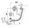 Сифон для ванны Alca Plast A564KM3