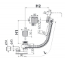 Сифон для ванны Alca Plast A564KM3-100