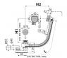 Сифон для ванны Alca Plast A565CRM1-120