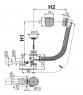 Сифон для гидромассажных ванн Alca Plast A566-112122-57