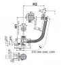 Сифон для гидромассажных ванн Alca Plast A566-273133-100