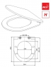 Сиденье для унитаза Alca Plast A66 Softclose
