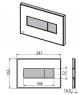 Кнопка управления Alca Plast M1374