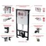 Скрытая система инсталляции Alca Plast AM101/1120 Sadromodul