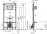 Скрытая система инсталляции Alca Plast AM1101/1200 Sádromodul Slim