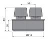Вентиляционный клапан Alca Plast APH110 Ø110 мм
