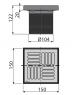 Горловина сливного трапа Alca Plast APV0400