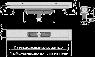 Желоб водоотводящий Alca Plast APZ1116-650 Wall Low