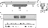Желоб водоотводящий Alca Plast APZ1116-1050 Wall Low