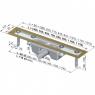 Желоб водоотводящий Alca Plast APZ2 Design-650L