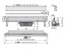 Желоб водоотводящий Alca Plast APZ5-SPA-Eden-1050