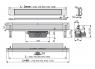 Желоб водоотводящий Alca Plast APZ5-SPA-Twin-1050