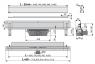 Желоб водоотводящий Alca Plast APZ5-SPA-Shade-1050