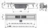 Желоб водоотводящий Alca Plast APZ6-1150 Professional