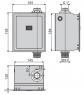 Автоматическое устройство смыва для унитаза Alca Plast ASP3-B 6V