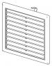 Вентиляционная решетка Alca Plast AVM150 150х150 с пружинками