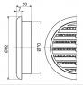 Вентиляционная решетка Alca Plast AVM70 круглая Ø70 мм
