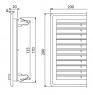 Вентиляционная решетка Alca Plast AVM200UZ 200х200 с пружинками