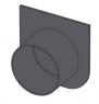 Заглушка крайнего отверстия канала DN 75 Alca Plast AVZ-P004