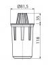 Гидрозатвор для дренажных каналов Alca Plast AVZ-P007