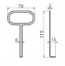 Крючок для изъятия решетки Alca Plast AVZ-P008