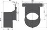 Торцевой переходник для подключения к канализации Alca Plast AVZ-P010