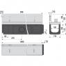 Щелевой дренажный канал Alca Plast AVZ101-R121
