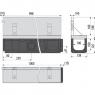 Щелевой дренажный канал Alca Plast AVZ101-R122