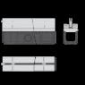 Щелевой дренажный канал Alca Plast AVZ101-R123