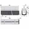 Щелевой дренажный канал Alca Plast AVZ101-R323