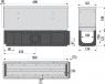 Щелевой дренажный канал Alca Plast AVZ101S-R124R