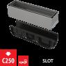 Щелевой дренажный канал Alca Plast AVZ101S-R321R